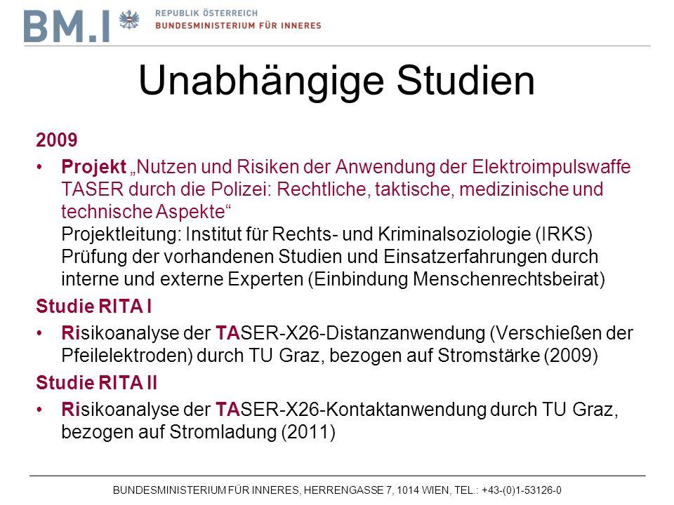 Unabhängige Studien 2009.