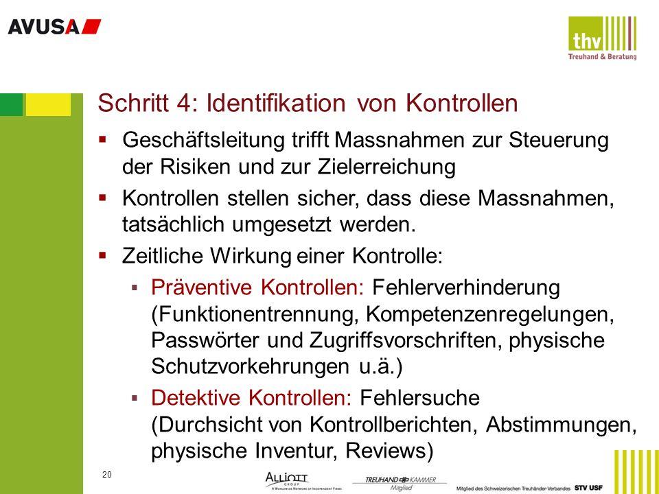 Schritt 4: Identifikation von Kontrollen