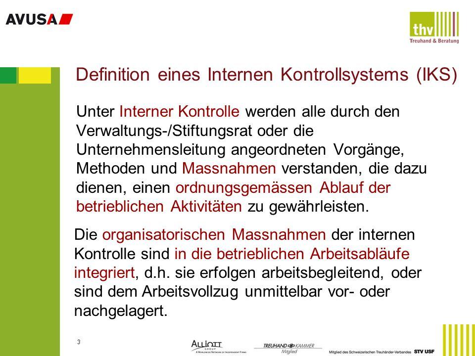 Definition eines Internen Kontrollsystems (IKS)