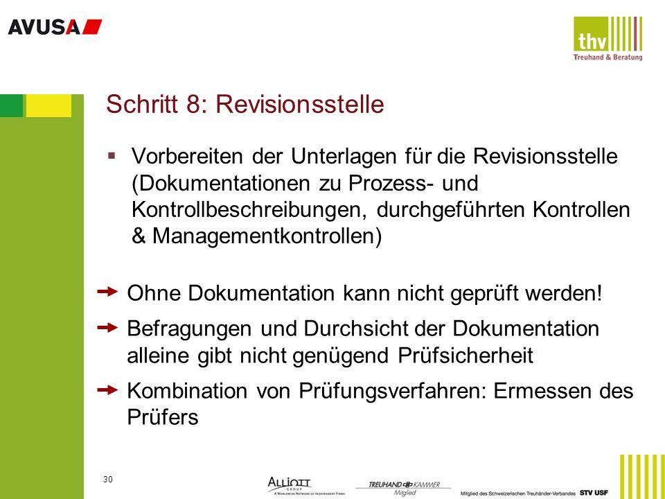 Schritt 8: Revisionsstelle