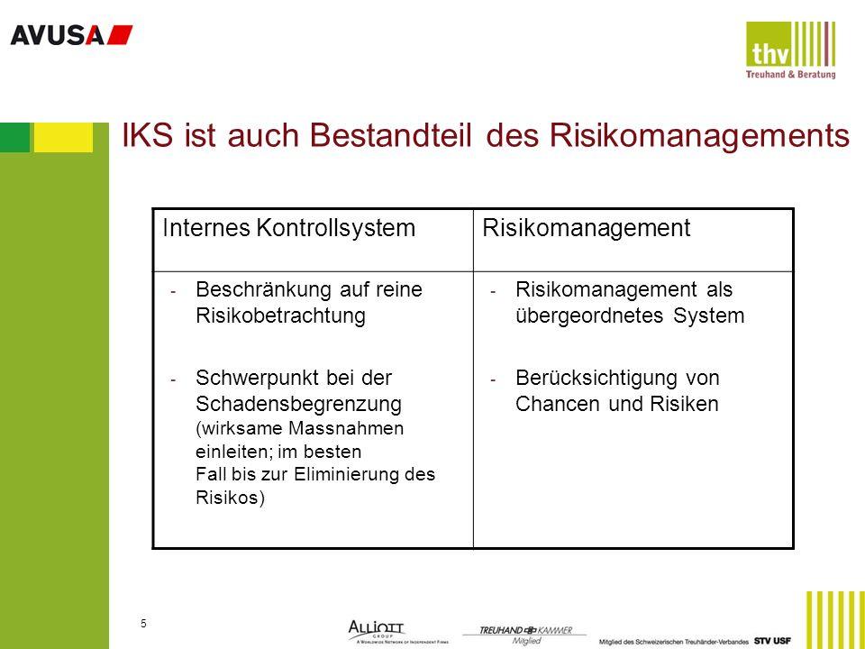 IKS ist auch Bestandteil des Risikomanagements