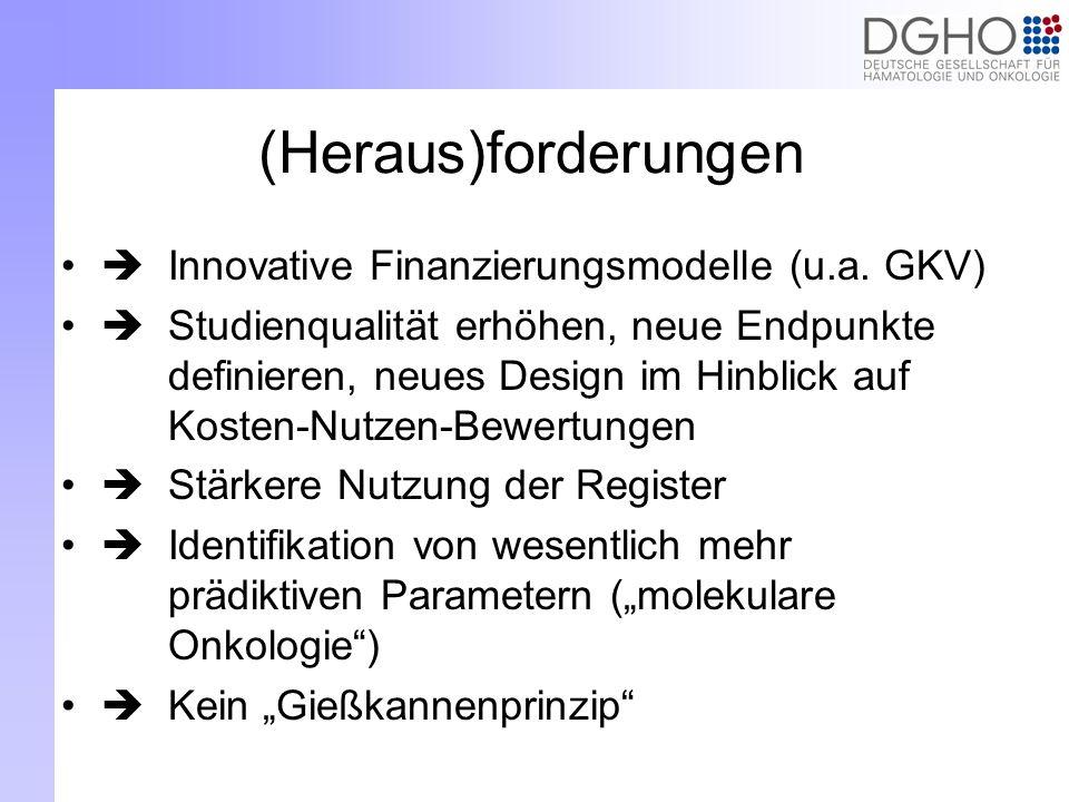 (Heraus)forderungen  Innovative Finanzierungsmodelle (u.a. GKV)