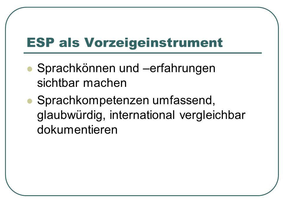 ESP als Vorzeigeinstrument