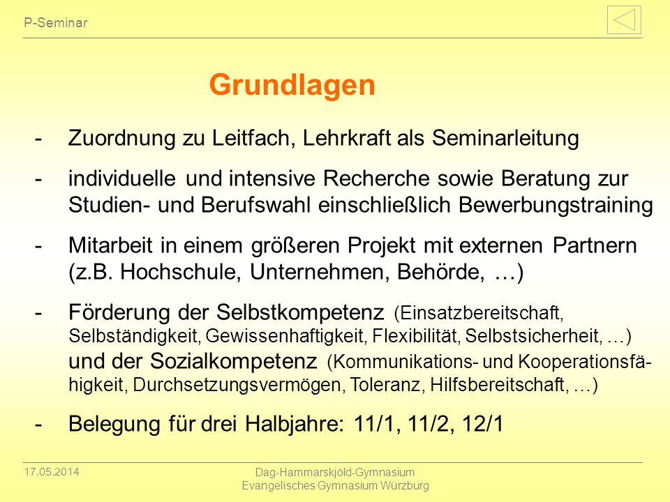 Dag-Hammarskjöld-Gymnasium Evangelisches Gymnasium Würzburg