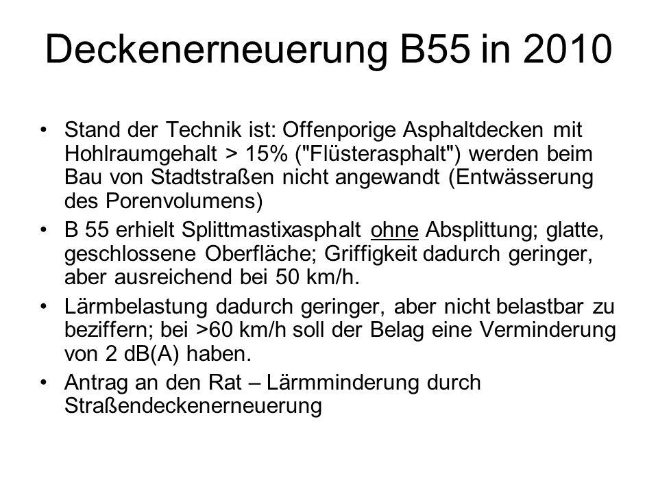 Deckenerneuerung B55 in 2010