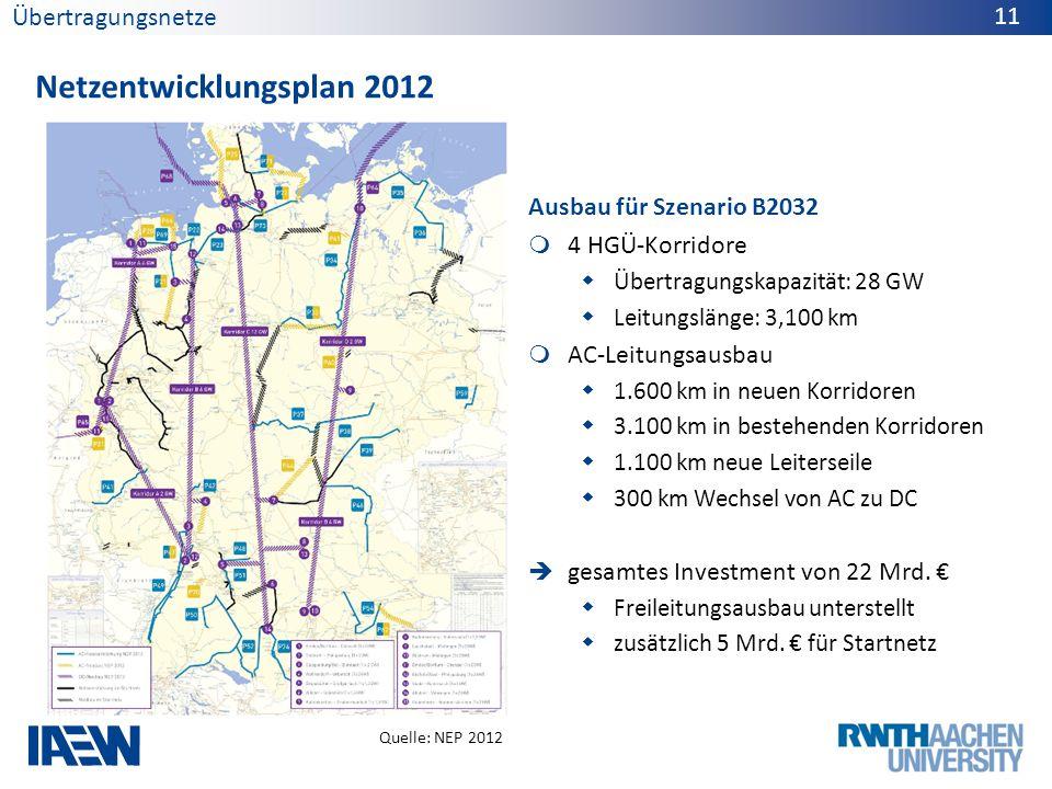 Netzentwicklungsplan 2012