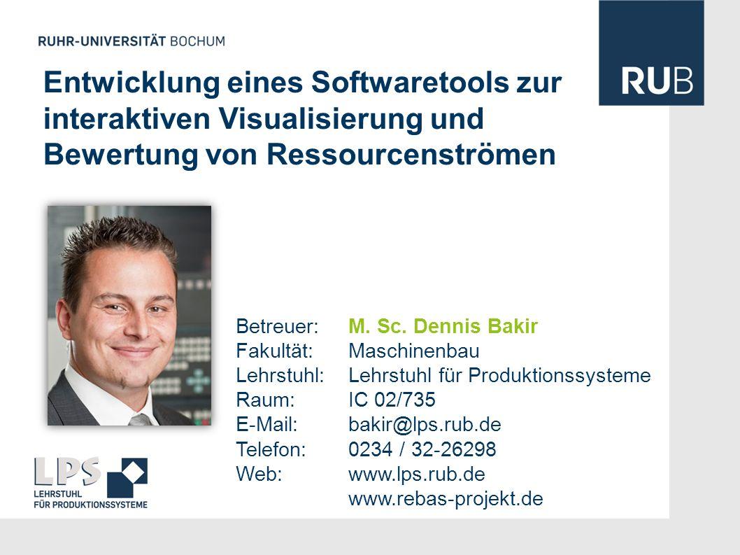 Entwicklung eines Softwaretools zur interaktiven Visualisierung und Bewertung von Ressourcenströmen