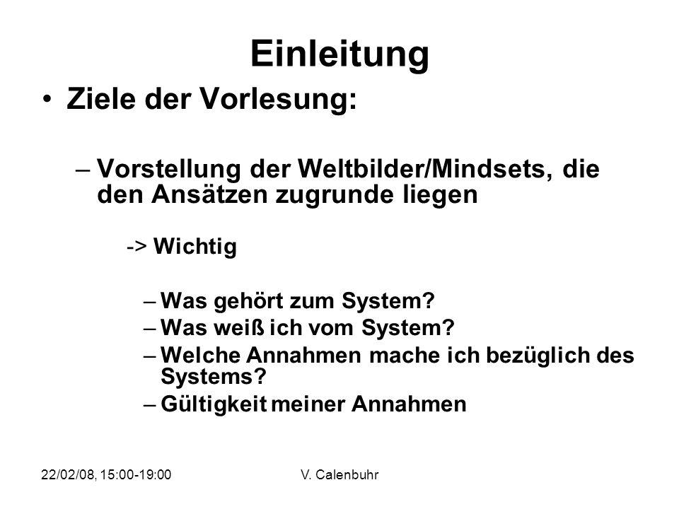 Einleitung Ziele der Vorlesung: