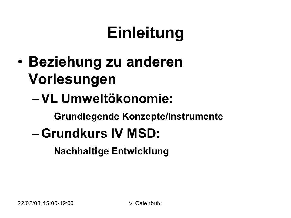 Einleitung Beziehung zu anderen Vorlesungen VL Umweltökonomie: