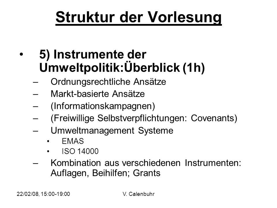Struktur der Vorlesung
