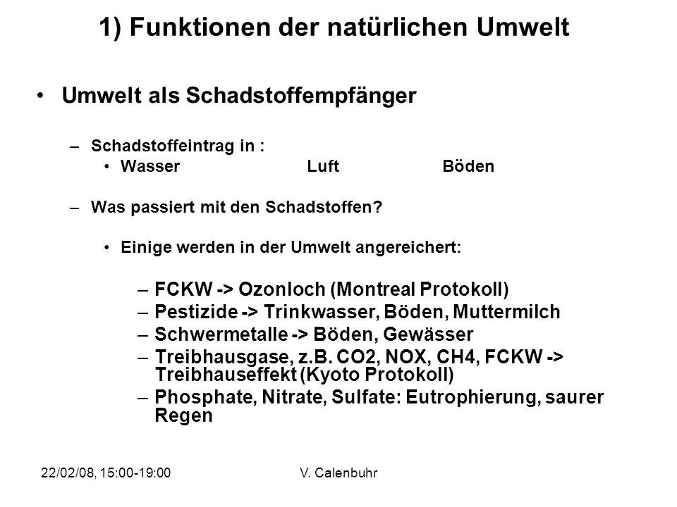 1) Funktionen der natürlichen Umwelt