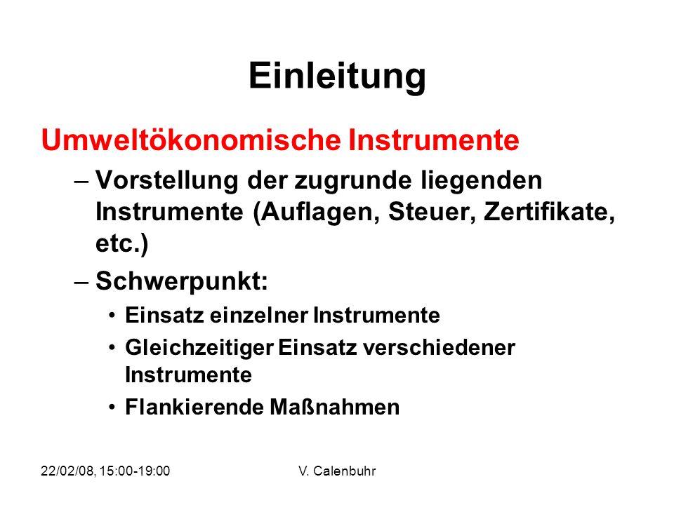 Einleitung Umweltökonomische Instrumente