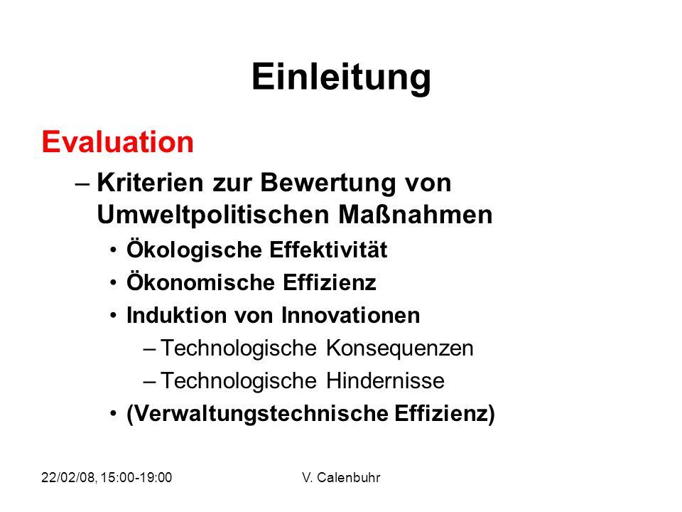 Einleitung Evaluation