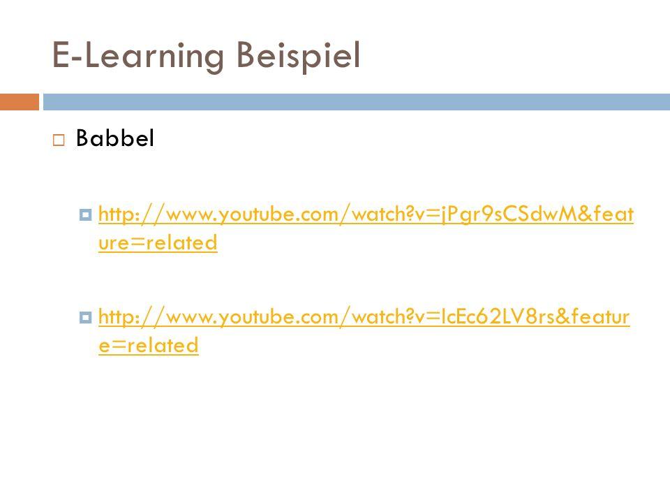 E-Learning Beispiel Babbel