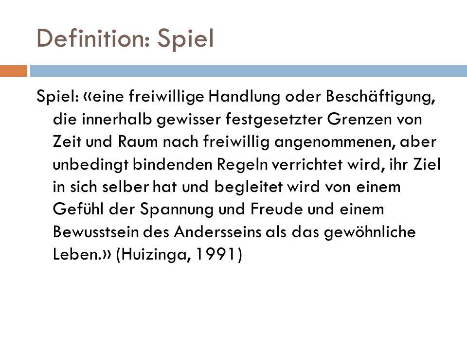 Definition: Spiel
