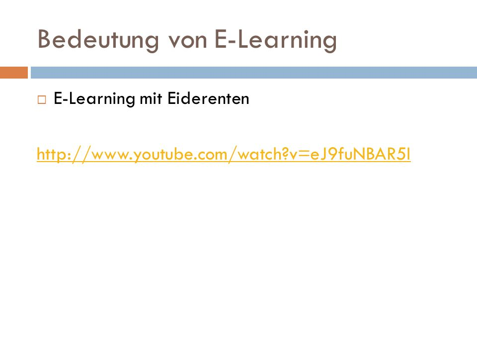 Bedeutung von E-Learning