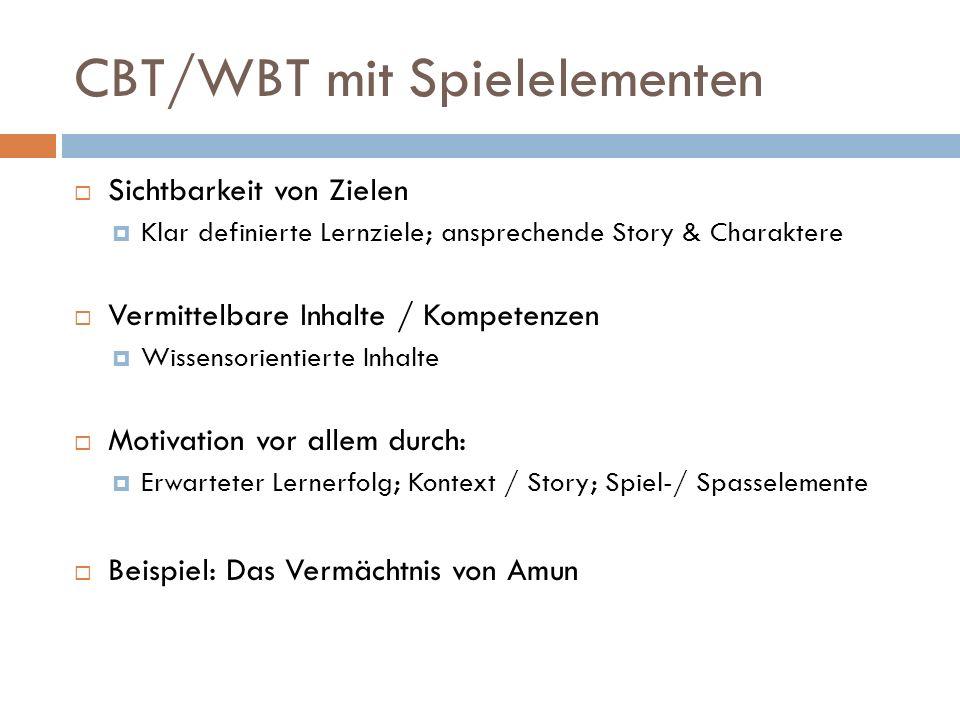 CBT/WBT mit Spielelementen