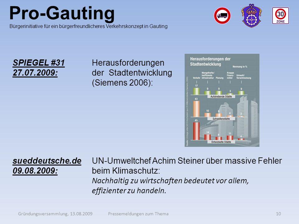 Pro-Gauting SPIEGEL #31 27.07.2009: