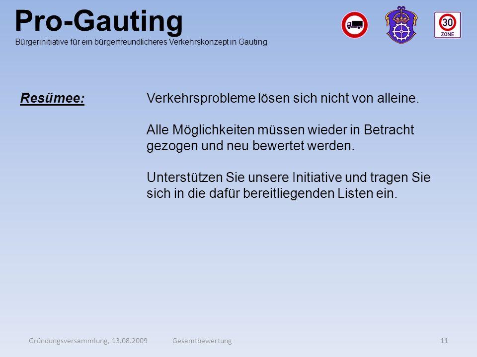 Pro-Gauting Resümee: Verkehrsprobleme lösen sich nicht von alleine.