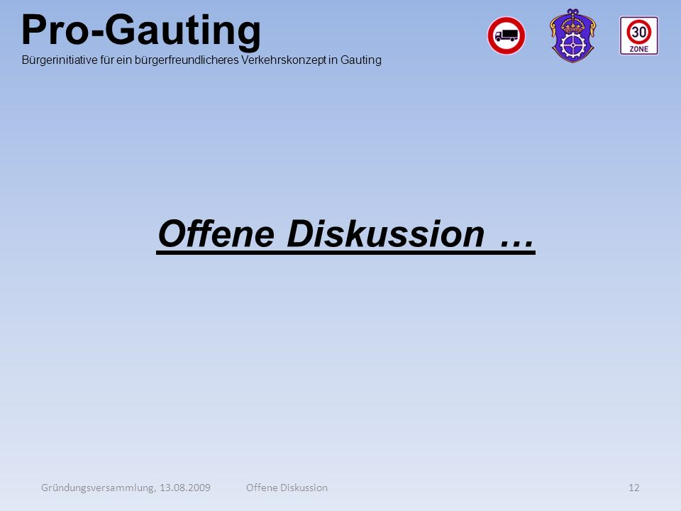 Pro-Gauting Offene Diskussion …
