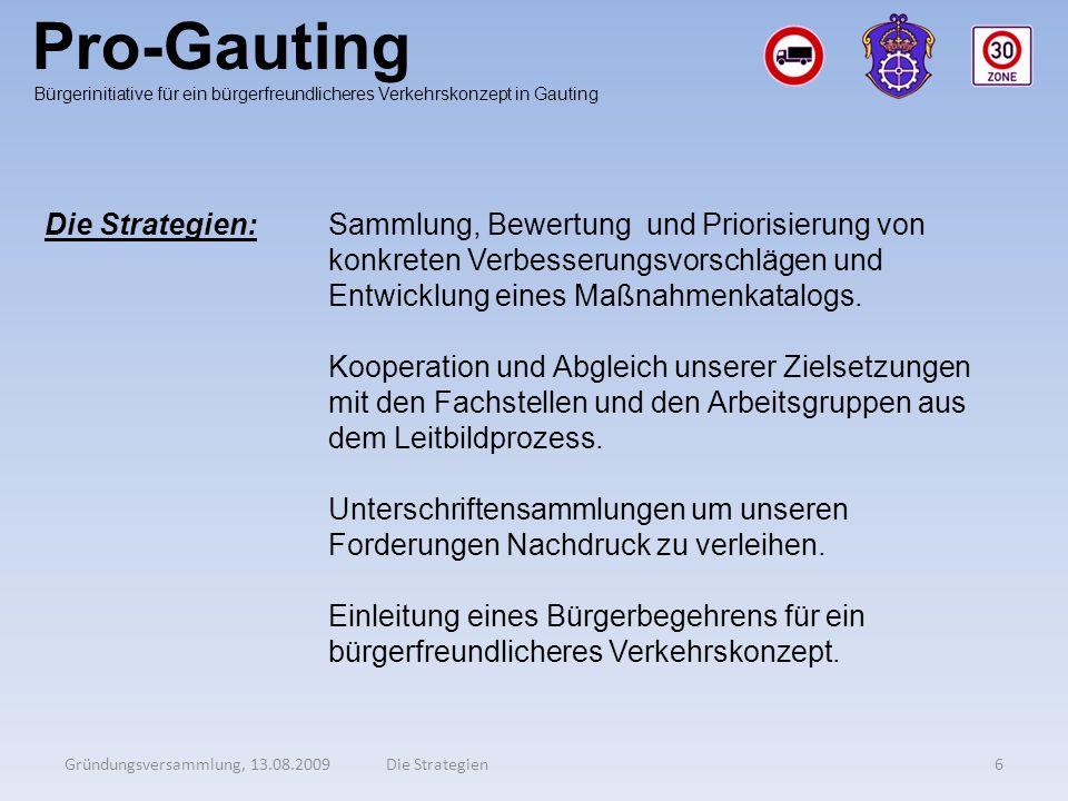 Pro-Gauting Die Strategien: Sammlung, Bewertung und Priorisierung von