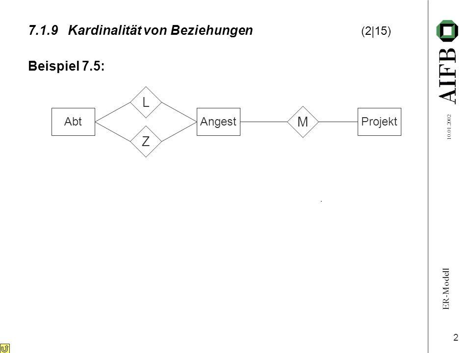 7.1.9 Kardinalität von Beziehungen (2 15)