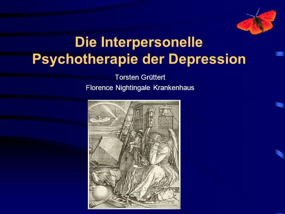 Die Interpersonelle Psychotherapie der Depression