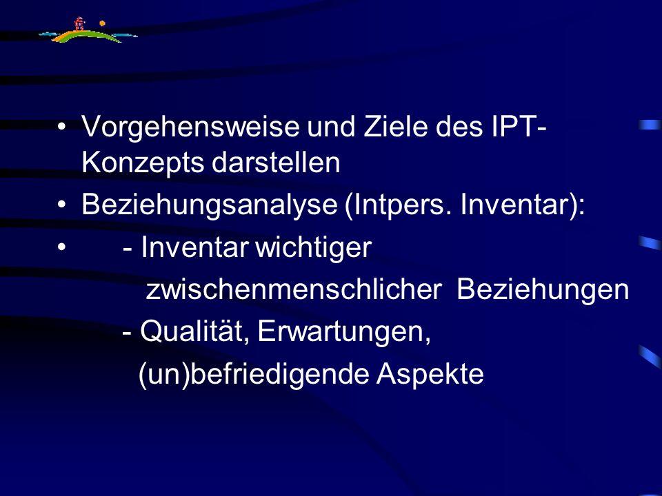 Vorgehensweise und Ziele des IPT- Konzepts darstellen