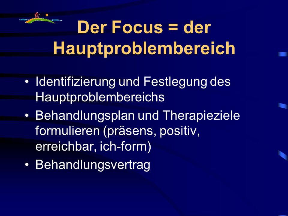 Der Focus = der Hauptproblembereich