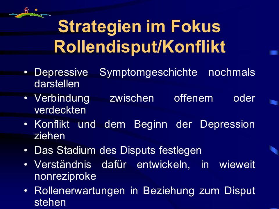 Strategien im Fokus Rollendisput/Konflikt