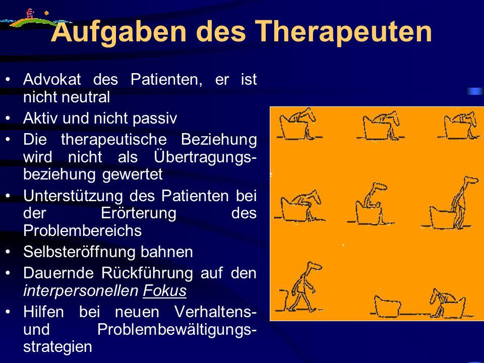 Aufgaben des Therapeuten