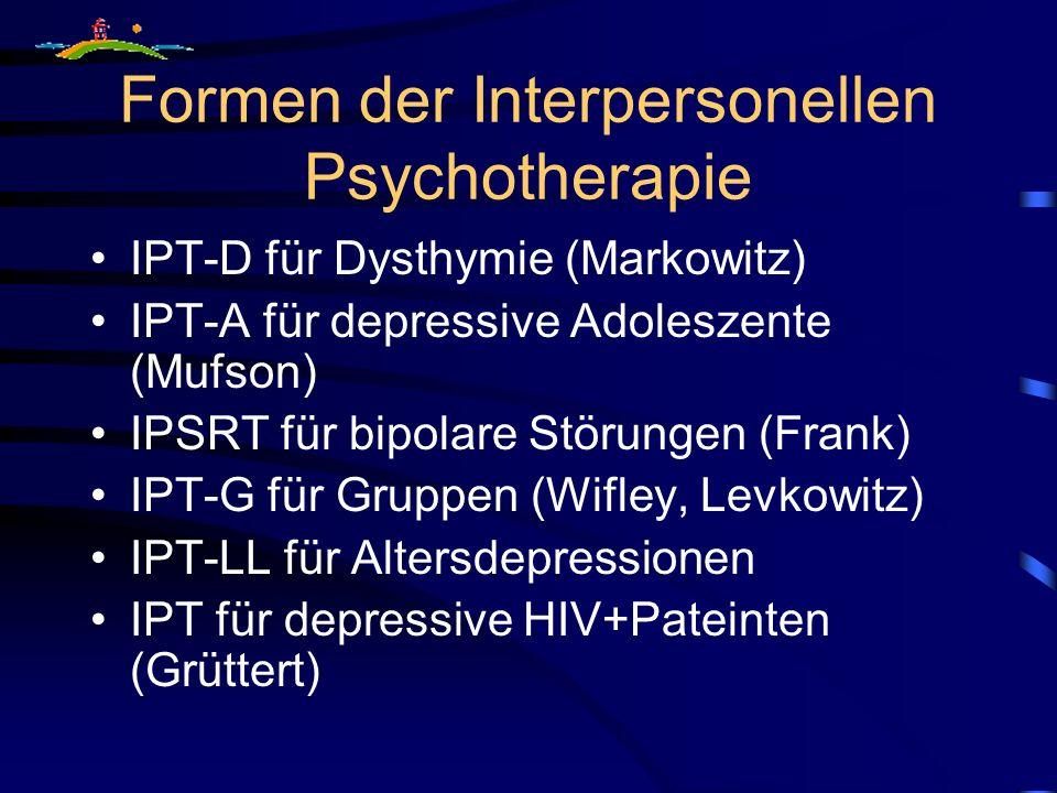 Formen der Interpersonellen Psychotherapie