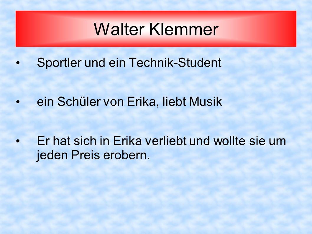 Walter Klemmer Sportler und ein Technik-Student