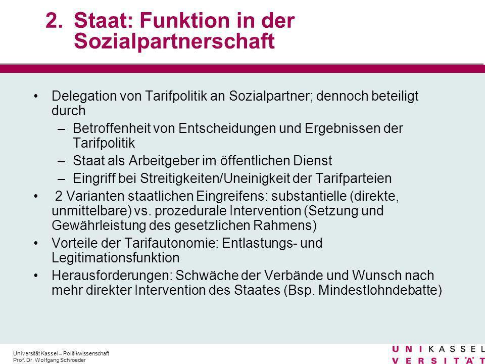 Staat: Funktion in der Sozialpartnerschaft