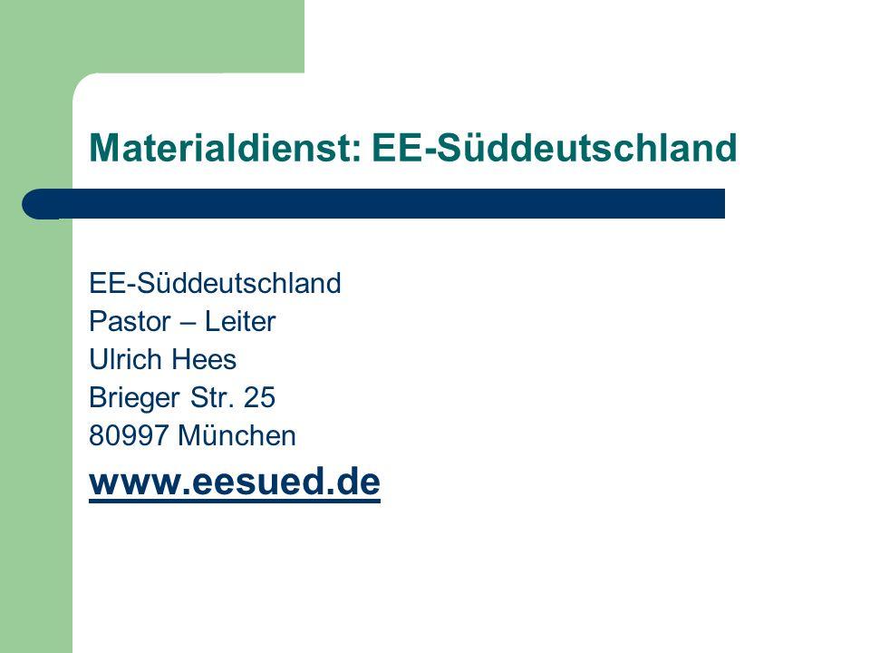 Materialdienst: EE-Süddeutschland