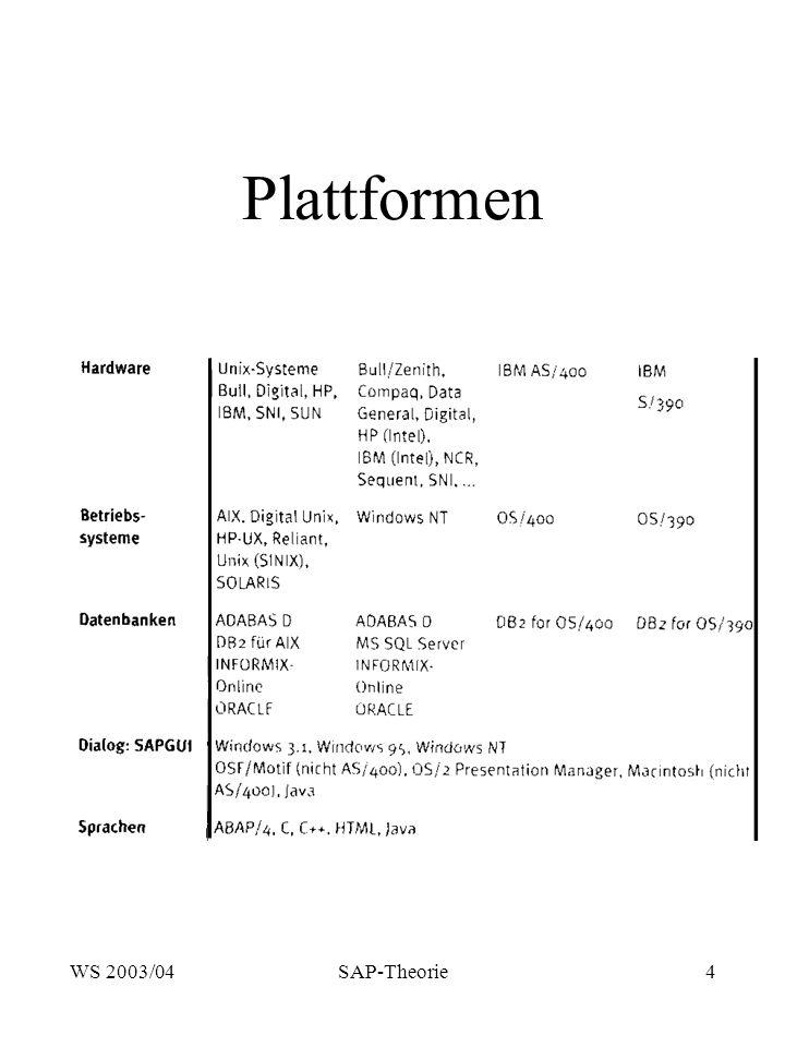 Plattformen WS 2003/04 SAP-Theorie