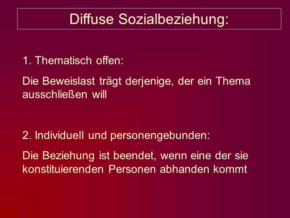 Diffuse Sozialbeziehung: