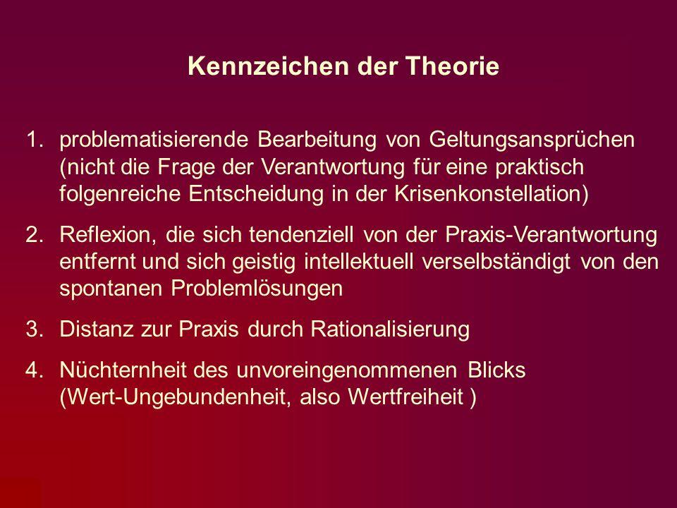 Kennzeichen der Theorie