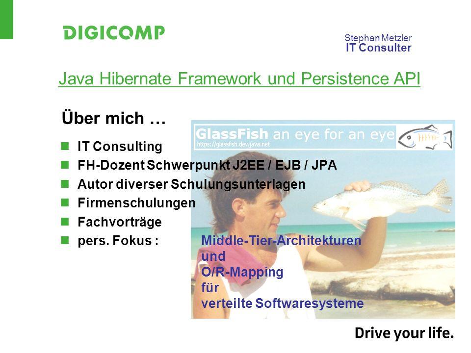 Über mich … IT Consulting FH-Dozent Schwerpunkt J2EE / EJB / JPA