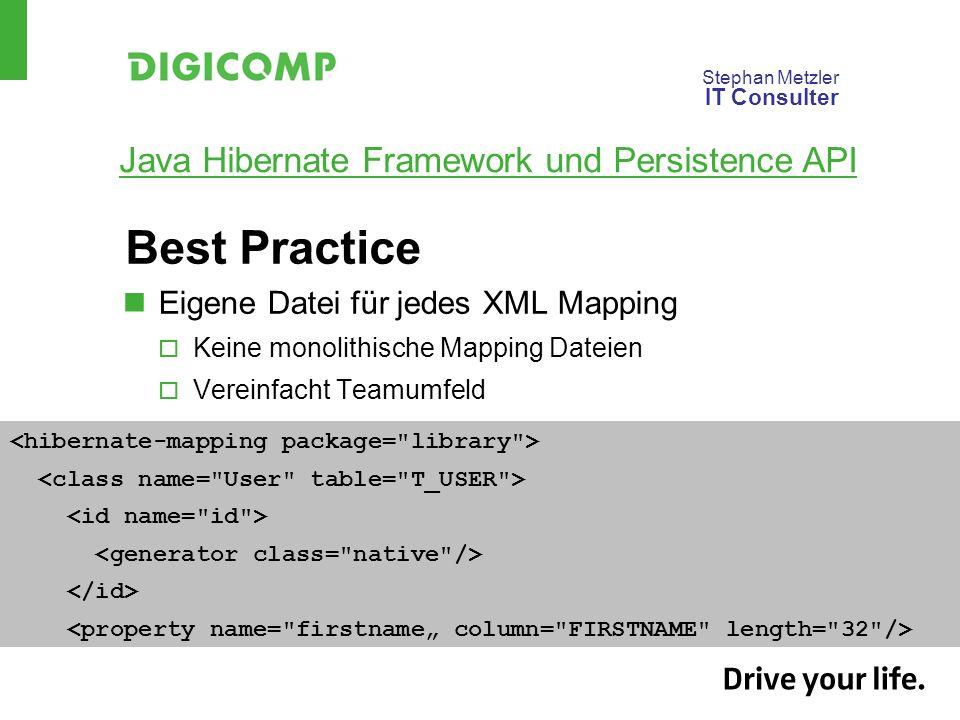 Best Practice Eigene Datei für jedes XML Mapping