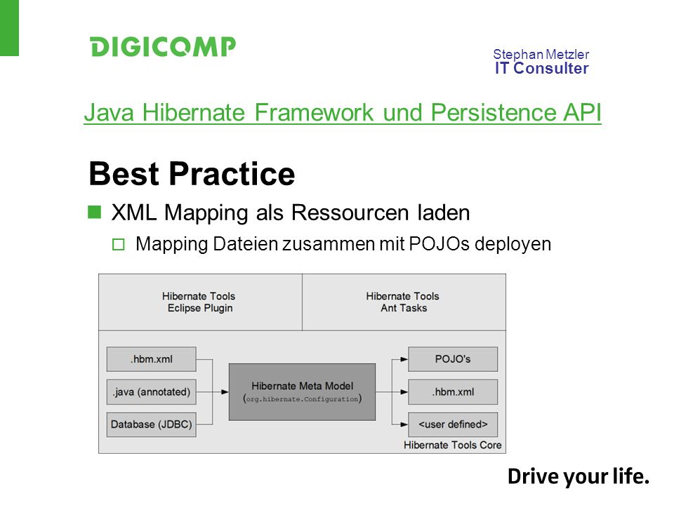 Best Practice XML Mapping als Ressourcen laden