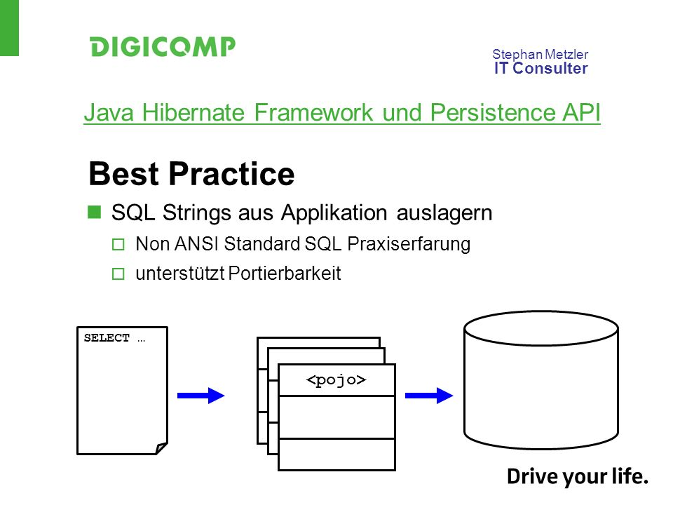 Best Practice SQL Strings aus Applikation auslagern
