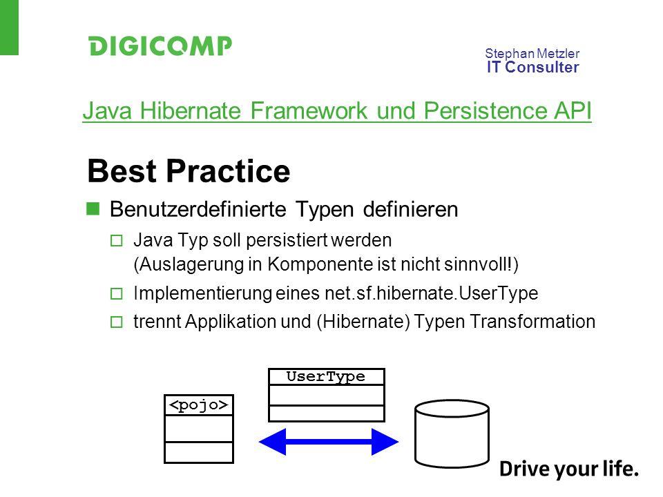 Best Practice Benutzerdefinierte Typen definieren