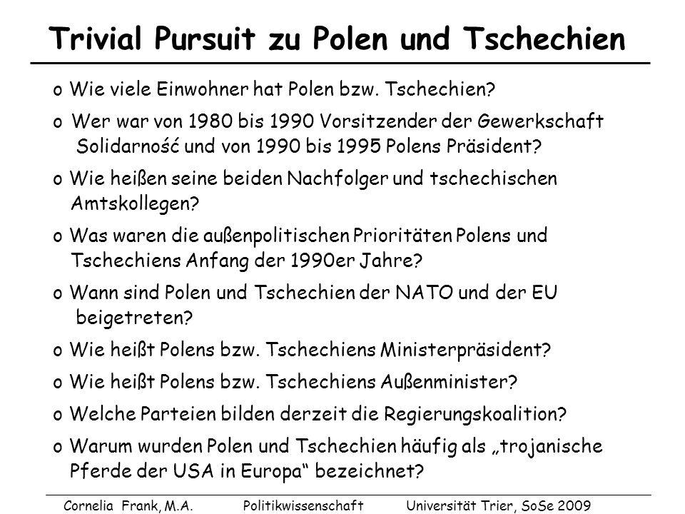 Trivial Pursuit zu Polen und Tschechien