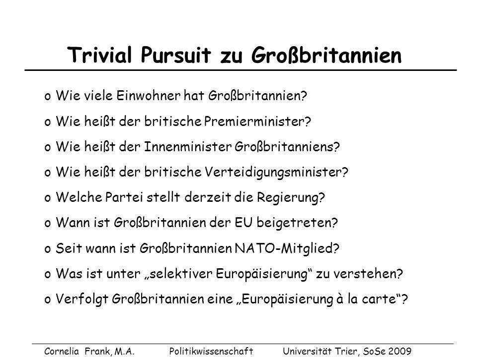 Trivial Pursuit zu Großbritannien