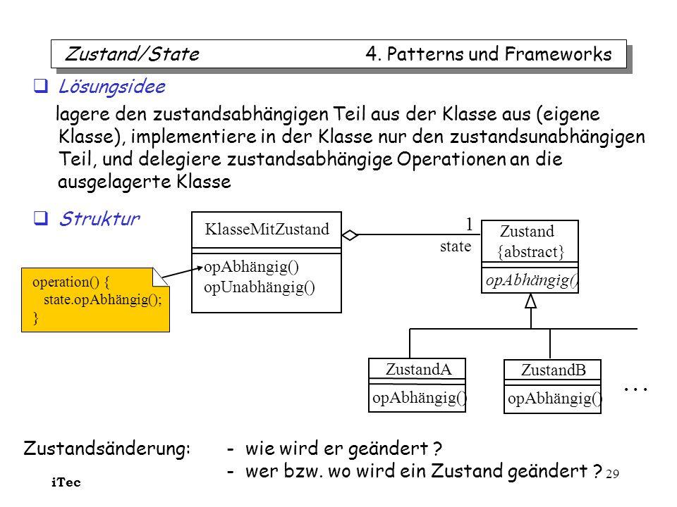 Zustand/State 4. Patterns und Frameworks