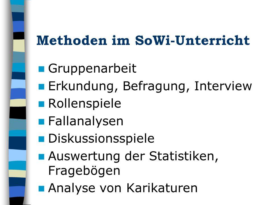 Methoden im SoWi-Unterricht