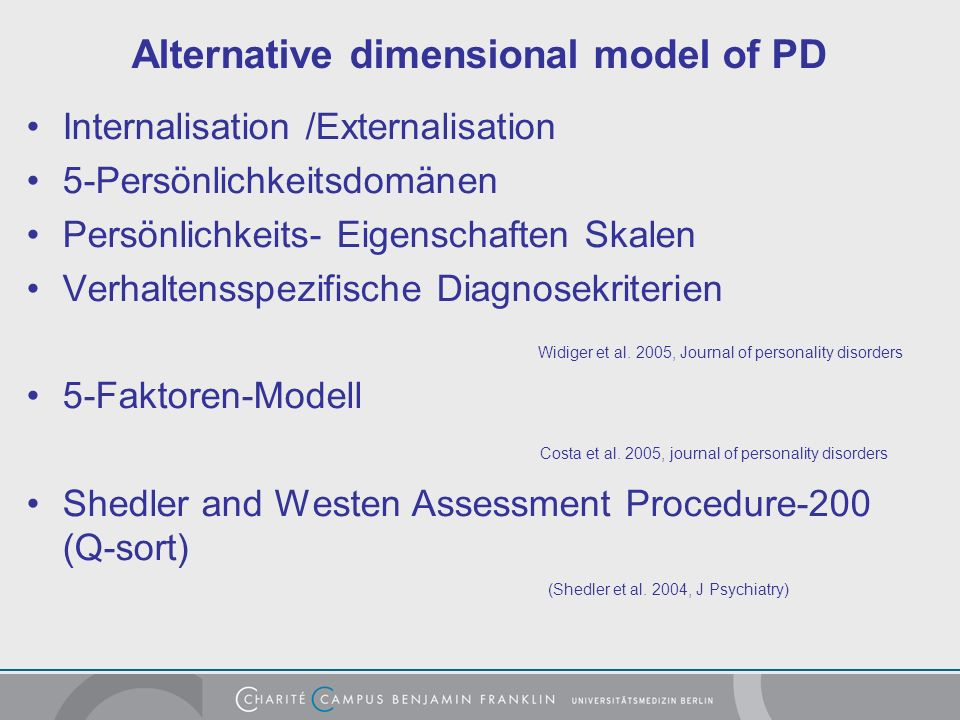 Alternative dimensional model of PD