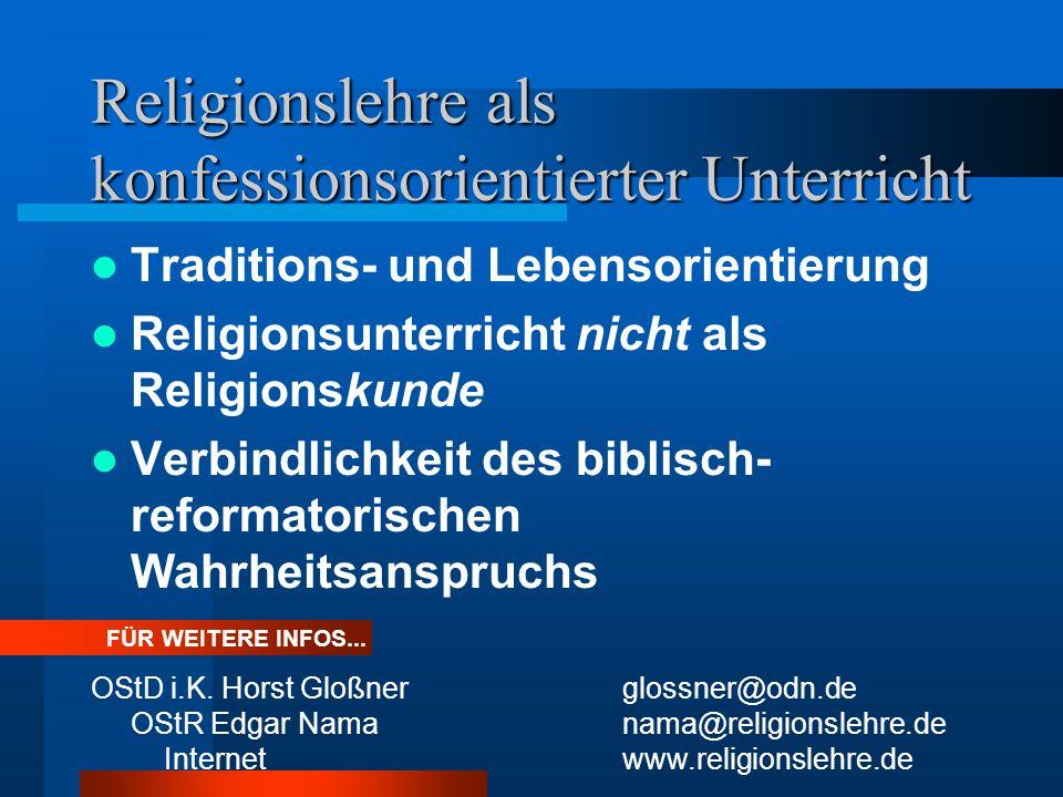 Religionslehre als konfessionsorientierter Unterricht