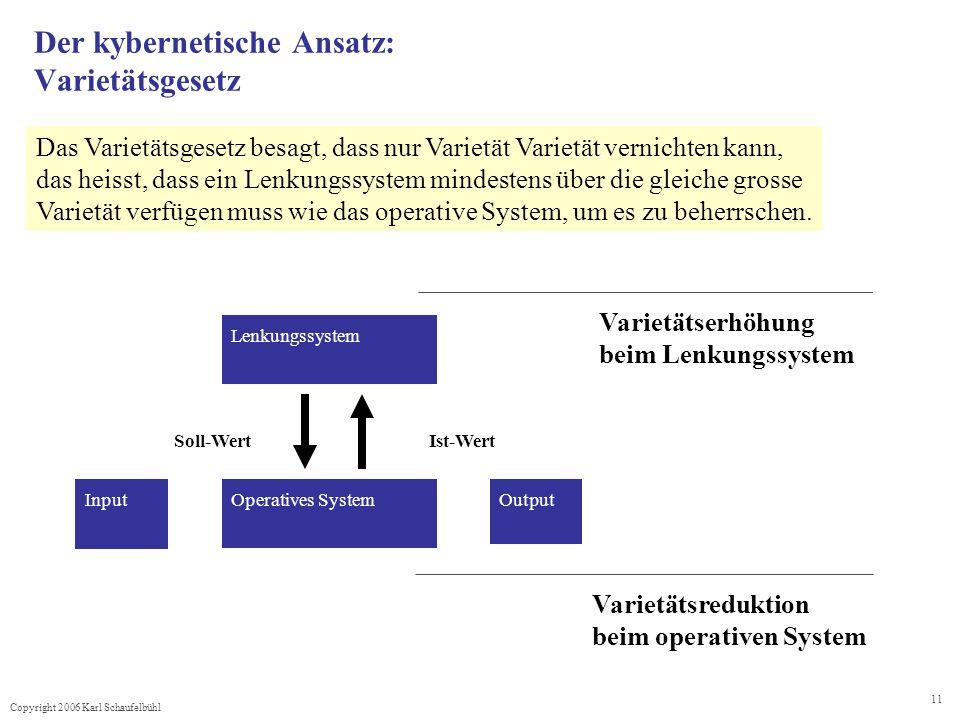 Der kybernetische Ansatz: Varietätsgesetz